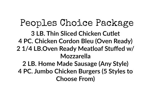 The Peoples Choice Package