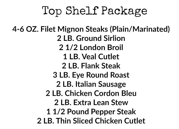 Top Shelf Package