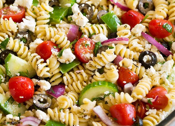 Greek Pasta Salad Home Made 1/2 Pound