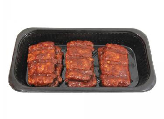 4 pcs Rib a Q Patties  in bbq sauce