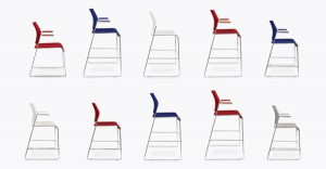 Patriotic stacking chairs