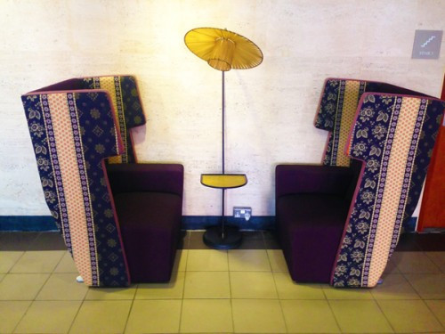 Make these lounge chairs the focal point in your reception area