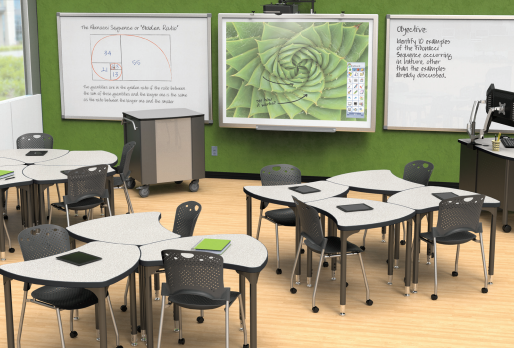 Shapes desks from MooreCo bring collaboration to the classroom