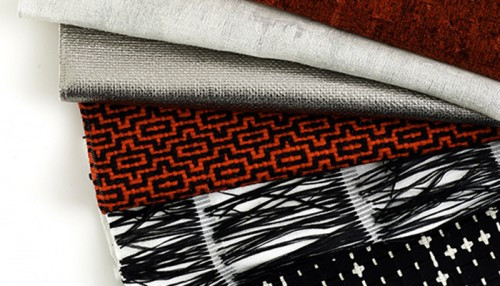 Maria Cornejo's designer upholstery fabric for Knoll's Luxe Textiles