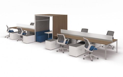 Jux open office workstations with OFS Brands