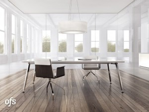 Eleven table desk series from OFS
