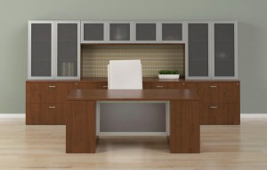 Gesso desk series from Indiana Furniture