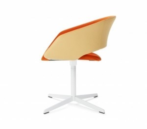 Mod pedestal base chair from Leland