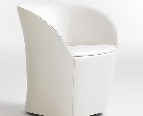 Evie guest chairs from Paul Brayton are cute and curvy