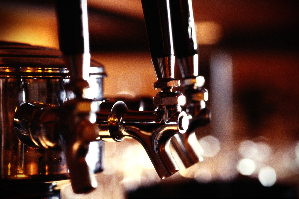 the spigot tap of a public house beer tap