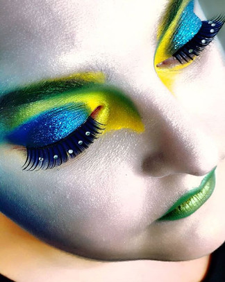Fashion Make-Up von mir_Dozentin_ Valeri