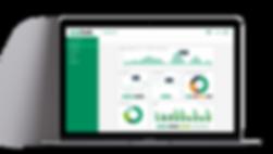 Darstellung der Maschinendaten in Form von Grafiken und Statistiken auf dem Dashboard