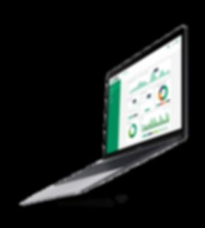 MCT Projekt auf Laptop