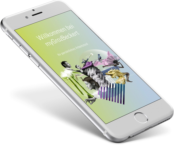 myGrozBeckert, die Groz Beckert App zur textilen Welt. UX/UI und Programmierung der App myGrozBeckert 4.0