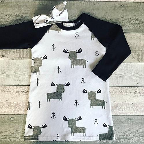 T-Shirt Dress - Winter Elk