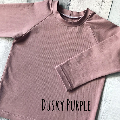Long Sleeve Top - Dusky Purple