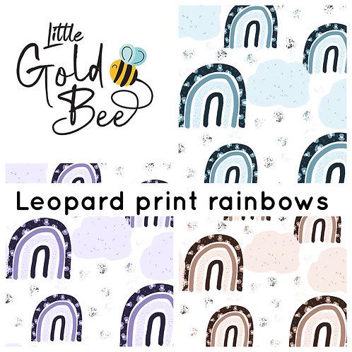 Full Leg Dungarees - Leopard Rainbow Colours