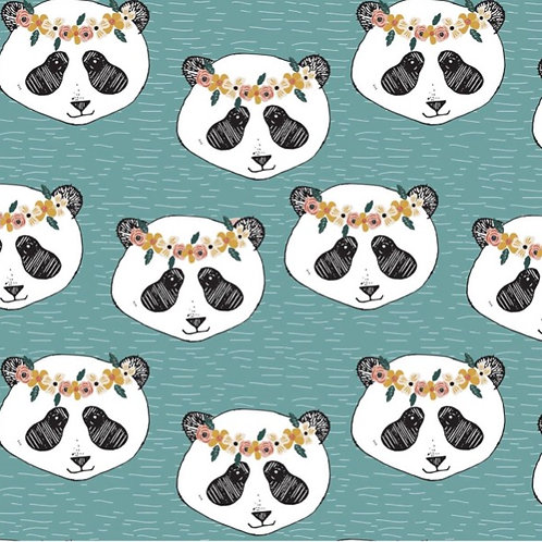 T-Shirt Dress - ORGANIC Panda Heads