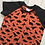 Thumbnail: T-Shirt Dress - Rust Dinosaurs