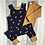 Thumbnail: Shortie Romper - Navy Bees