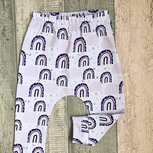 Harems/Leggings - Purple Leopard Rainbows