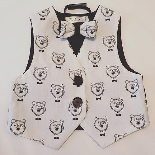 Waistcoat & Bow Tie Set (2-3Y)