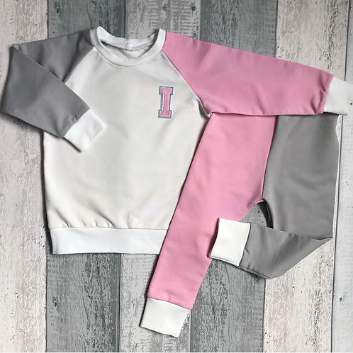 Retro Set - Pink & Light Grey