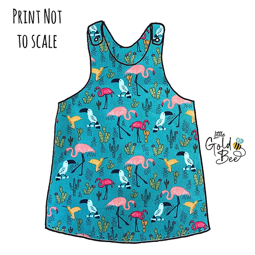 Pinafore Dress - Tropical Birds