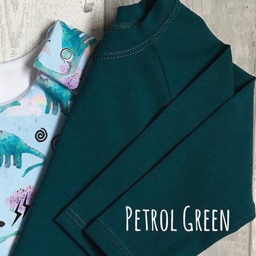 Long Sleeve Top - Petrol Green