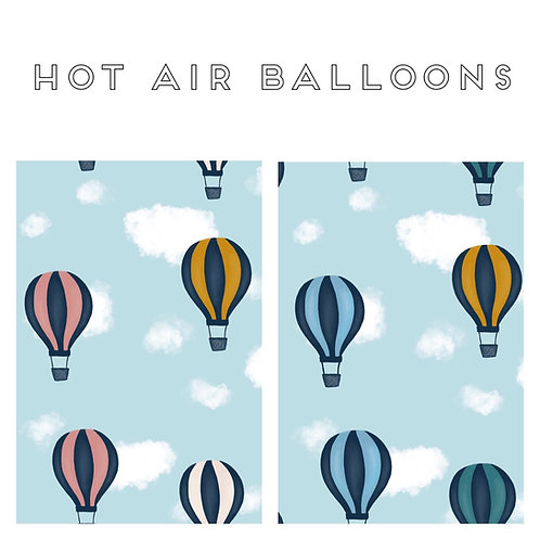 PRE-ORDER - Pinafore Dress - Hot Air Balloons (Blue & Pink)