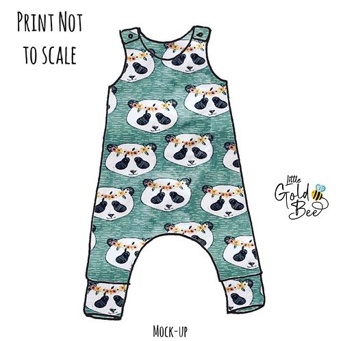 Full Leg Romper - ORGANIC Pandas