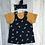 Thumbnail: Pinafore Dress - Navy Bees
