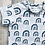 Thumbnail: PRE-ORDER Long & Short Sleeve Tops - Ice Blue Leopard Rainbows on white