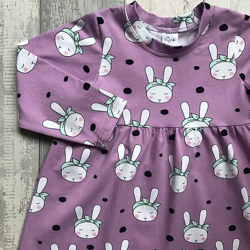 Jersey Dress: Organic Bunnies