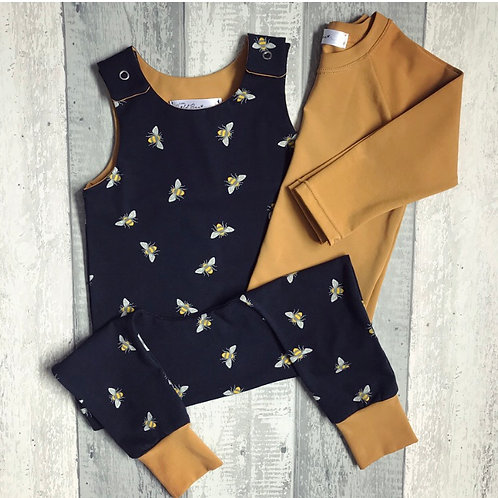Rompers - Bees On Navy