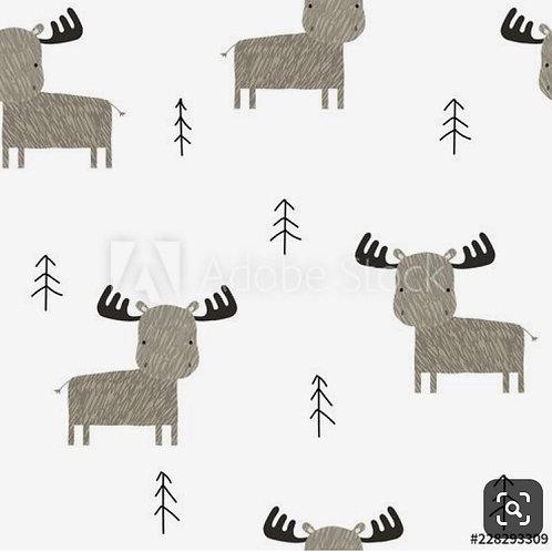 Pinafore Dress - Winter Elk