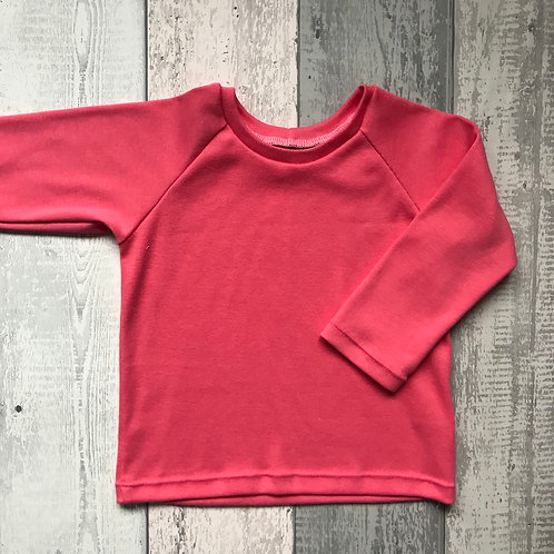 Ribbed Top Only - Coral