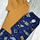 Thumbnail: Leggings Set - Blue Rockets