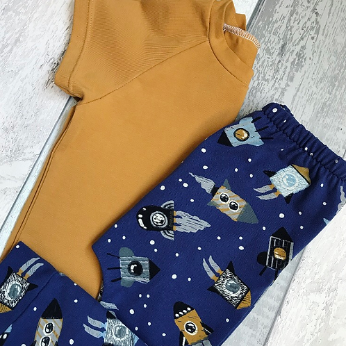 Leggings Set - Blue Rockets