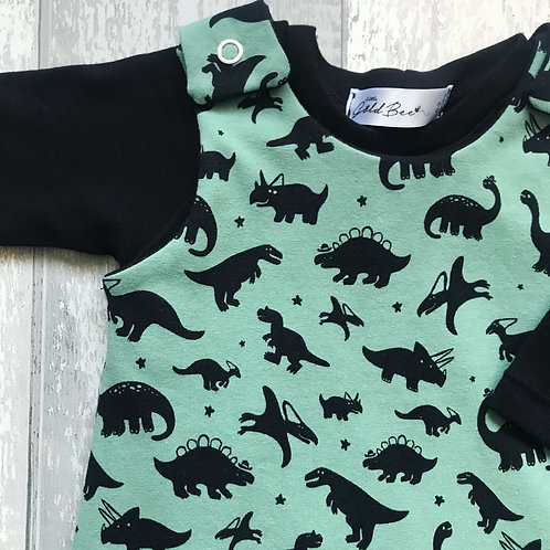 Romper Set - Green Dinos