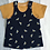 Thumbnail: Pinafore Set - Navy Bees
