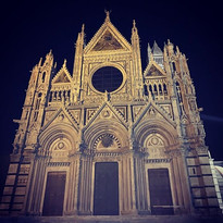 Day 4: Siena at night. After dinner, the
