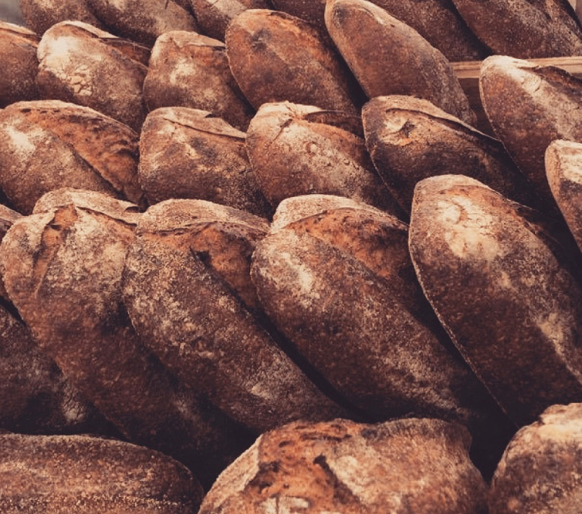 Crusty country loaves of Noble Bread.
