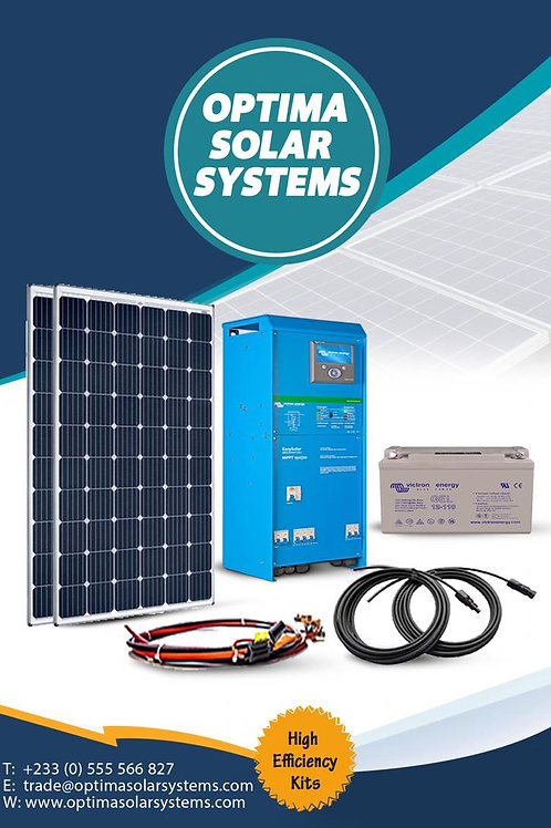 3-kWp Solar Home System (8 batteries)