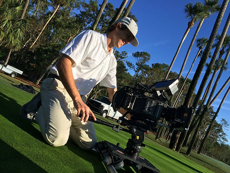 Josh filming PGA commercial with Arri Am