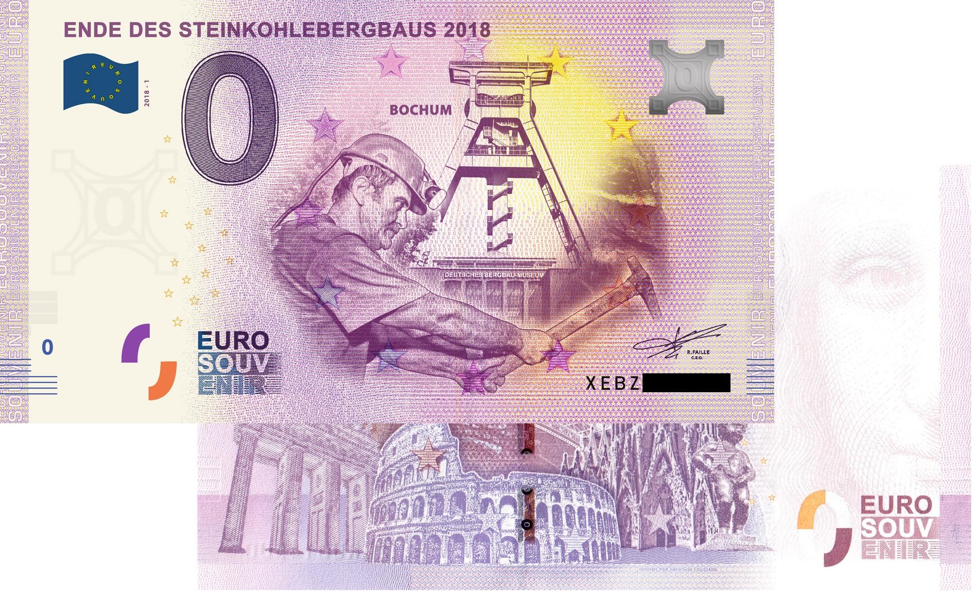 # 0 Euro Schein Spanien 2018 /· Palacio Gaudi Astorga /· Souvenir o Null /€ Banknote