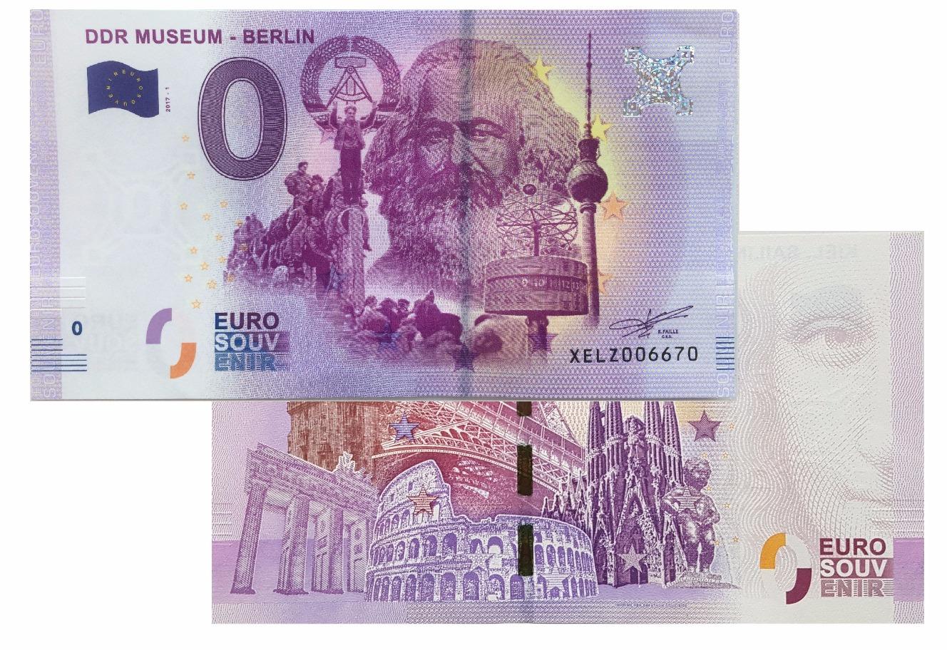 8f028c0fa9f65 DDR Museum 2017-1 (Karl Marx) Zero Euro Souvenir Ticket