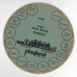 1960's circle ticket
