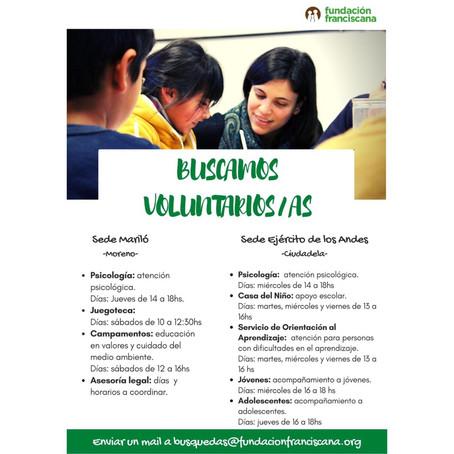 ¡Sumate como voluntario/a!