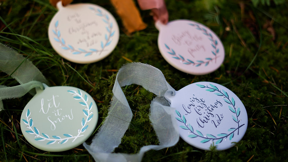 Personalised Ceramic Bauble (Flat)